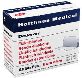 Holthaus Dederon Fixierbinden 6 cm x 4 m (20 Stk.)