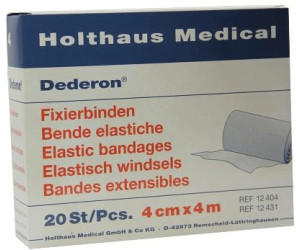 Holthaus Dederon Fixierbinden 4 cm x 4 m (20 Stk.)