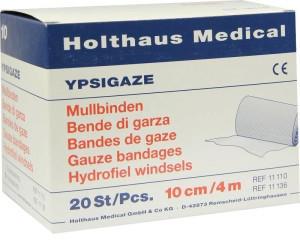Holthaus Ypsigaze 10 cm x 4 m Mullbinde (20 Stk.)