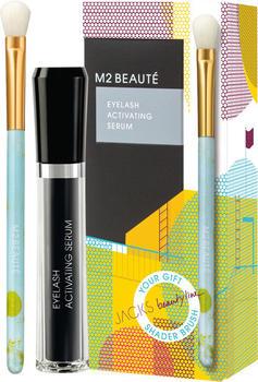M2 Beauté M2 Summer Eyebrow Renewing Serum Summer Shader Brush Set (2-tlg.)