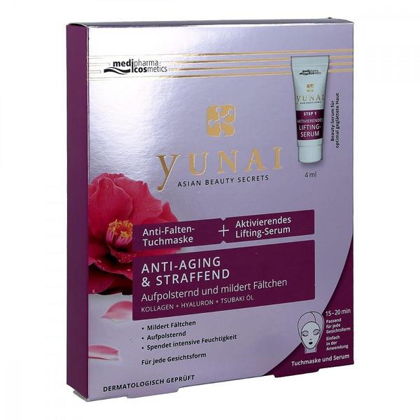 Medipharma Yunai Anti Falten Tuchmaske + Lifting Serum