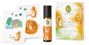 Primavera Life Aroma Roll-On Geschenkset Du bist mutig (Roll-On 10ml + Tattoo)