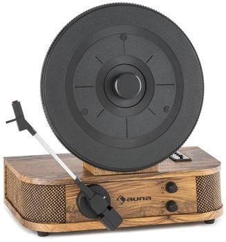 Auna Verticalo S Retro-Design-Plattenspieler Vertikal-Plattenteller USB MP3 Line