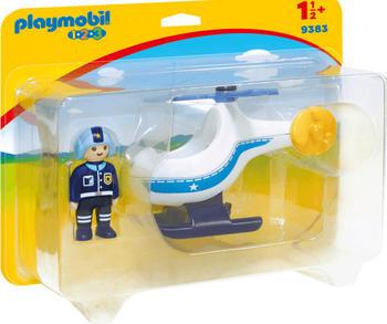 Playmobil 1.2.3 - Polizeihubschrauber (9383)