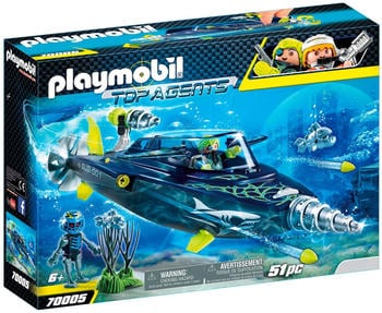 Playmobil Top Agents Team S.H.A.R.K. Drill Destroyer (70005)