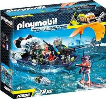 playmobil-top-agents-team-shark-harpoon-craft-70006