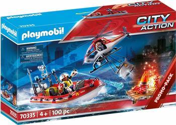Playmobil City Action - Feuerwehr-Einsatz mit Heli und Boot (70335)