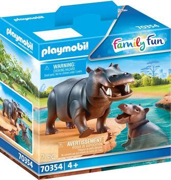 Playmobil Family Fun Flußpferd mit Baby 70354