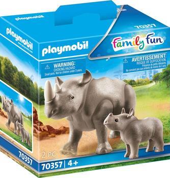 Playmobil Family Fun - Nashorn mit Baby (70357)