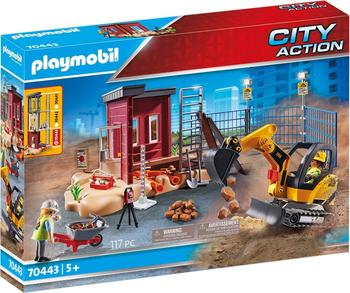 Playmobil City Action Minibagger mit Bauteil 70443