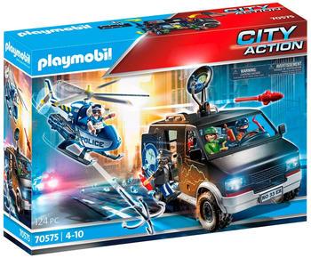 Playmobil City Action - Polizei-Helikopter: Verfolgung des Fluchtfahrzeugs (70575)