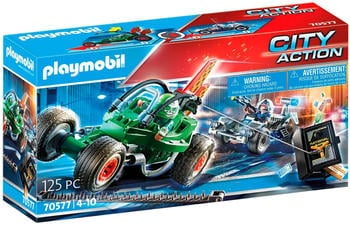 Playmobil City Action - Polizei-Kart: Verfolgung des Tresorräubers (70577)