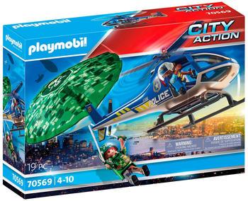 Playmobil City Action - Polizei-Hubschrauber: Fallschirm-Verfolgung (70569)