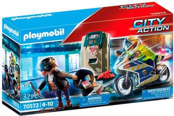 Playmobil City Action - Polizei-Motorrad: Verfolgung des Geldräubers (70572)