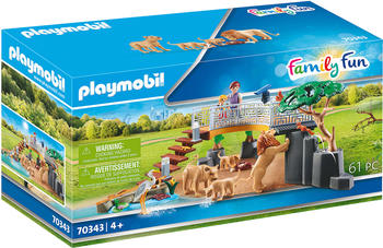 Playmobil Family Fun - Löwen im Freigehege (70343)