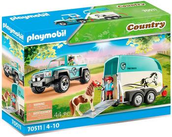 Playmobil Country - PKW mit Ponyanhänger (70511)