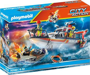 Playmobil City Action Löscheinsatz mit Rettungskreuzer (70140)