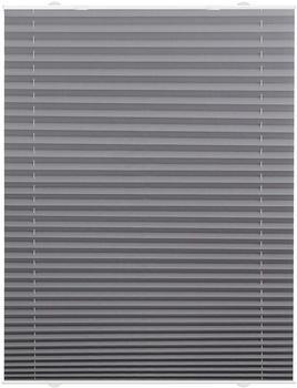 Lichtblick Haftfix-Plissee Crush-Optik (80 x 130 cm) grau