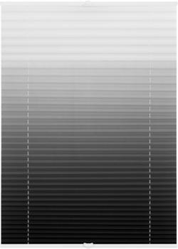 Lichtblick Klemmfix-Faltstore mit Farbverlauf (110 x 130 cm) grau/weiß