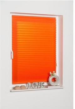K-home Klebe-Plissee Como (80 x 130 cm) orange