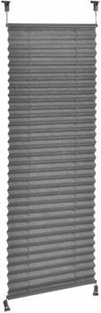 Neuhaus Klemmfix Plissee / Sonnen- und Lichtschutz (55 x 200 cm) grau