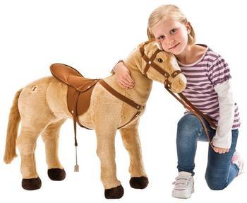 Happy People Pferd stehend mit Sound beige 80 cm