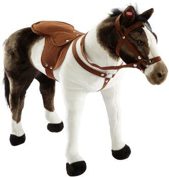 Happy People Pferd Pinto stehend mit Sound braun/weiß 71 cm