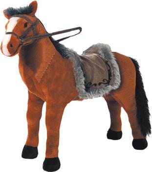 Heunec Pferd stehend mit Sound rotbraun 80 cm