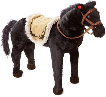 Happy People Pferd stehend mit Sound schwarz 71 cm