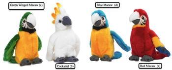 WWF Tropische Vögel 4-fach sortiert mit Sound 14 cm