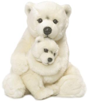 WWF Eisbärmutter sitzend mit Baby 28 cm