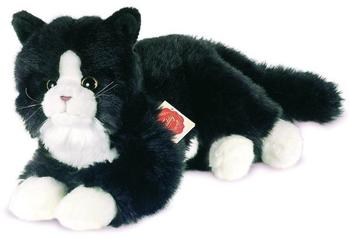 Teddy Hermann Collection - Katze liegend schwarz 25 cm