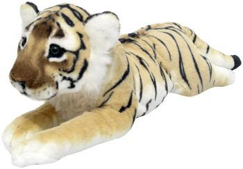 Wagner Stofftiere Plüschtier Tiger Baby liegend braun AM2041