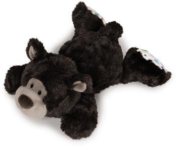 NICI Classic Bear - Bär dunkelbraun liegend 20 cm