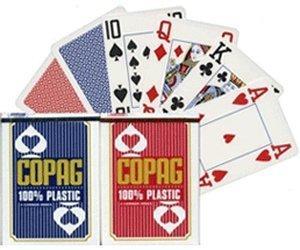 Copag Plastic Poker (rot)