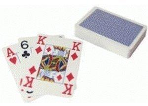 ASS Altenburger Plastik Pokerkarten (blau)