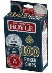 US Playing Card Hoyle Poker Chips (100 Chips)