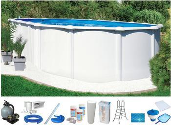 KWAD Steely de Luxe Set 730 x 370 x 130 cm inkl. Sandfilteranlage (10-tlg.)