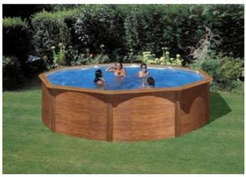 Summer Fun Rundbeckenset Rhodos Holzoptik 460 x 460 x 120 cm inkl. Sandfilteranlage