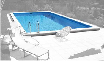 Summer Fun Styroporbecken Lugano mit Leiter 700 x 350 x 150 cm