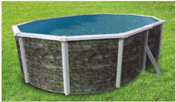 Kwad Steely De Luxe Stone Oval - 4,9 x 3,6 x 1,2 m