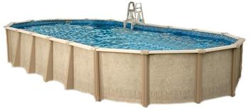 Interline Stahlwand Pool Sunlake Aufstellbeckenset Ovalform 7,30 x 3,60 m,