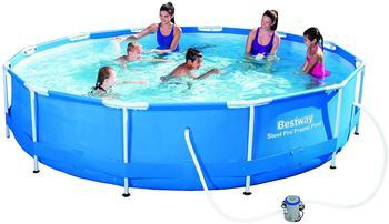 Bestway Steel Pro Max Frame Pool-Set 366 x 76 cm mit Filterpumpe (56416)