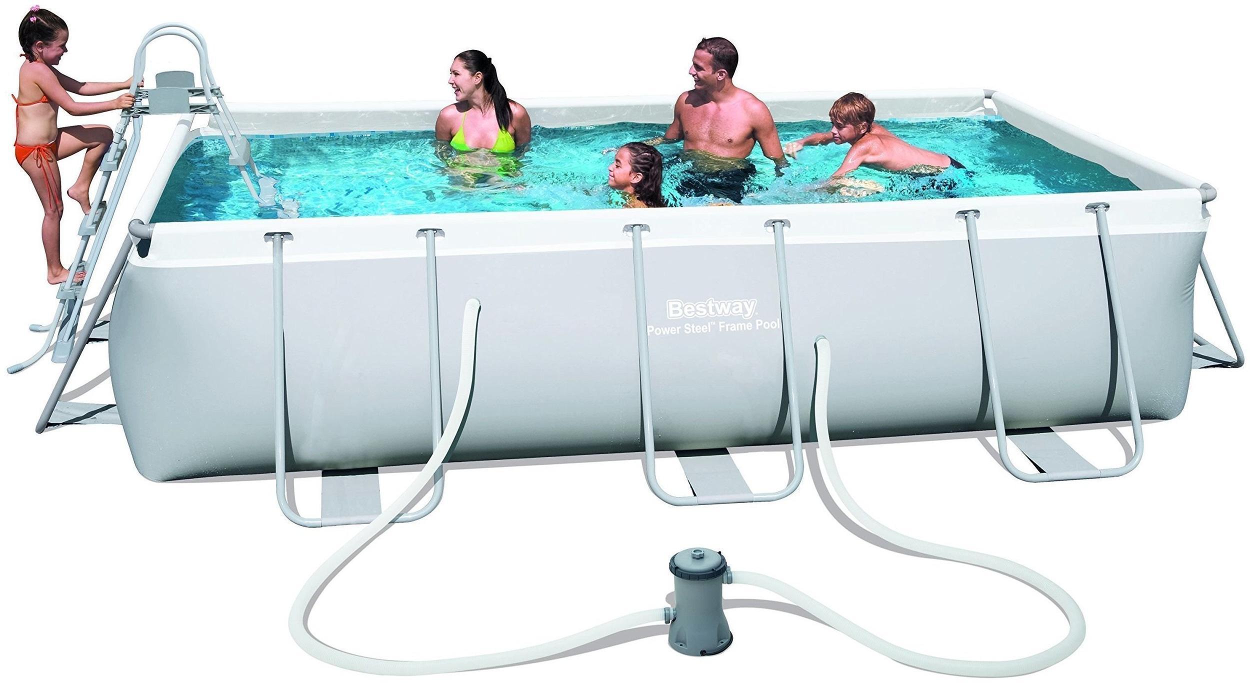 bestway power steel frame pool set 404 x 201 x 100 cm mit