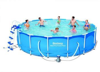 Bestway Steel Pro Frame Pool 457 x 107 cm mit Kartuschenfilter (56488)