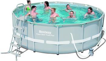 Bestway Power Steel Frame Pool Komplett-Set 427 x 122 cm mit Filterpumpe (56444)