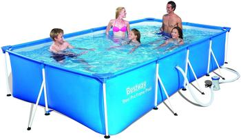 Bestway Steel Pro Frame Pool-Set 400 x 211 x 81 cm mit Filterpumpe (56424)