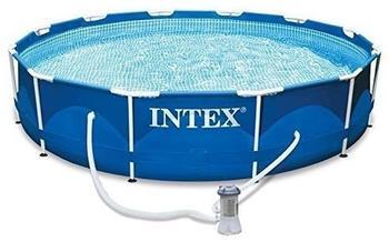 Intex Metal Frame-Pool 366 x 76 cm mit Kartuschenfilter (28212GN)