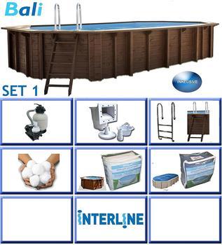 Interline Holzpool Bali Set 1 640 x 400 x 136 cm