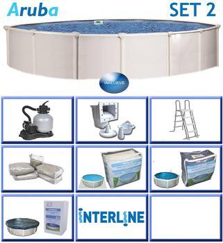 interline Aruba Set 360 x 122 cm inkl. Sandfilter